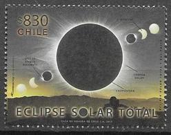CHILE, 2019, MNH, SOLAR ECLIPSE, ASTRONOMY, 1v - Astronomy