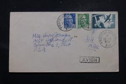 """FRANCE - Oblitération """" Poste Aux Armées 517 """" Sur Enveloppe Par Avion Pour Les Etats Unis En 1948 - L 58672 - Poststempel (Briefe)"""