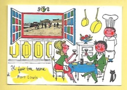 CP DEPT 56 PORT LOUIS  IL FAIT BON VIVRE A PORT LOUIS - Port Louis