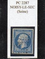Seine - N°14A Obl PC 2287 Noisy-le-Sec - 1853-1860 Napoléon III