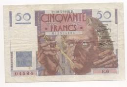 50 FRANCS LE VERRIER 1946 28/03/1946  E6 - 50 F 1946-1951 ''Le Verrier''