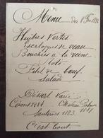 41 Menus De 1894 à 1952 (détails Ci Dessous), Menus Mariages, Etc Certains Avec Reliefs, Dorures, Gaufrés Etc - Menú
