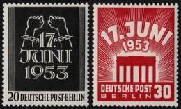 ✔️ West Berlin 1953 - Volksaufstand Im DDR - Mi. 110/111 ** MNH - €50 - Unused Stamps