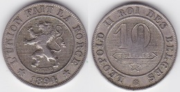 LOT 132  LEOPOLD II   10 CENTIMES CUPRO-NICKEL Type Braemt 1894 Française - 04. 10 Centimes