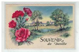 08 DEVILLE SOUVENIR DE .... FANTAISIE FLEURS ROSES N°1 TOILEE - France