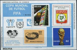 Bolivia, World Cup 1978-82, Block # 99, 50 Euro - 1982 – Espagne