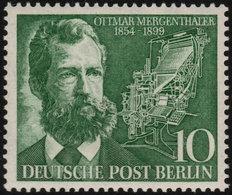 ✔️ West Berlin 1954 - Ottmar Mergenthaler Inventor  - Mi. 117 ** MNH - €4 - Unused Stamps