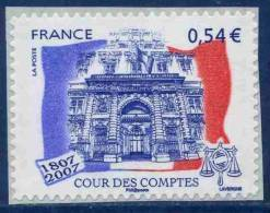 0117  Bicentenaire De La Cour Des Comptes (4028A) Marges Neuf **  2007 + - France