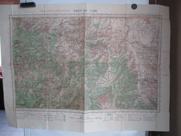Carte Militaire - Carroyage Kilométrique Lambert  - Nord Algérie - Pont Du Caîd - Cartes Topographiques