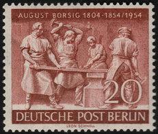 ✔️ West Berlin 1954 - August Borsig - Mi. 125 ** MNH - €9 - Unused Stamps