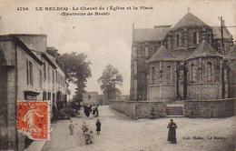 S16-014 Le Relecq - Le Chevet De L'Eglise Et La Place (Environs De Brest) - Brest