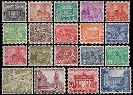 ✔️ West Berlin 1949 - Berliner Bauten - Mi. 42/60 ** MNH - Alle Signiert Grabowski - €750 - Ongebruikt
