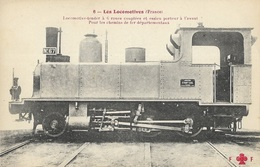 Locomotive-tender à 6 Roues Couplées Et Essieu Porteur à L'avant - Trains