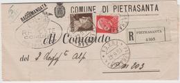 9250 Eb.  Busta Lettera Plico In Raccomandata - Posta Militare - Pietrasanta Comando Aeroporto  - 1942 - Italien
