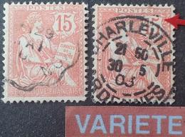 R1537/155 - 1902 - TYPE MOUCHON - N°125 + 125a ☉- VARIETE ➤➤➤ Queue Du 5 Touchant Le Cadre - Cote : 45,50 € - Errors & Oddities