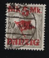 1920 20. Aug. Danzig Aufdrucke Mi DA 30I Sn DA 29 Yt DA 42 Sg DA 39A Pol DA 30 - Danzig