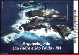 Ref. BR-3291 BRAZIL 2014 LIGHTHOUSES, SAINT PETER+SAINT, PAUL ARCHIPELAGO,SCIENCE,MNH 2V Sc# 3291 - Leuchttürme