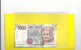 BANCA D'ITALIA . 1.000 LIRE . MONTESSORI . N° CC 684584 H . 2 SCANES - [ 2] 1946-… : République