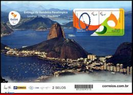 Ref. BR-3294E BRAZIL 2015 - *RARE*, PARALYMPIC GAMES, RIO 2016,DELIVERY OF FLAG,DATED 2012,MNH, SPORTS 2V Sc# 3294E - Sommer 2016: Rio De Janeiro
