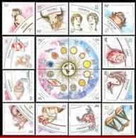 Ref. BR-SIGN+M BRAZIL 2020 - ZODIAC SIGNS + MANDALA,, 2019, CONSTELLATION, SET MNH, ASTROLOGY 16V - Astrología