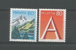 Switzerland 1993 Definitives  Y.T. 1417 + 1418 ** - Switzerland