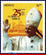 Ref. MX-2345 MEXICO 2004 RELIGION, FIRST VISIT OF POPE JOHN, PAUL II, FAMOUS PEOPLE, MI# 3048, MNH 1V Sc# 2345 - Cristianesimo