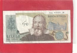 BANCA D'ITALIA . 2.000 LIRE . GALILEO . N° NA 418401 . 2 SCANES - 2000 Lire