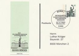 "Berlin / 1987 / Privatpostkarte ""BAVARIA Muenchen"", SSt. Bonn (AO38) - [5] Berlin"