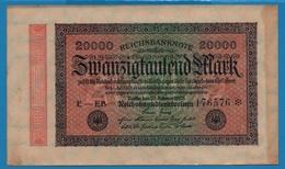 DEUTSCHES REICH 20000 Mark20.02.1923# E-EB 176576  P# 85b - [ 3] 1918-1933 : República De Weimar