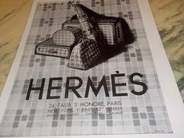 ANCIENNE  PUBLICITE LA TOILE   HERMES   1931 - Historische Bekleidung & Wäsche