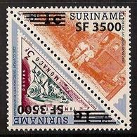 Republiek Suriname Nr 1217/1218 Postfris/MNH Treinen, Trains, Overdruk, Overprint 2003 - Suriname