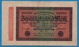 DEUTSCHES REICH 20000 Mark20.02.1923 # J-KH 039970 P# 85b - [ 3] 1918-1933 : República De Weimar