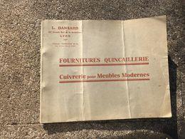 Livre Fournitures Quincaillerie Cuivrerie Pour Meubles Modernes L Dansard Lyon. - Bricolage / Technique