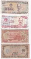 Vietnam 4 Billets 10, 200 , 500 Et 1000 Dong , Billets Ayant Circulés - Vietnam