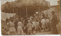 Villedommange  Manège De Chevaux De Bois Lors De La Fête Du Village 1932    PHOTO - Altri Comuni