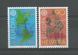 Switzerland 1992 Europa Chr. Colombus  Y.T. 1393/1394 ** - Switzerland