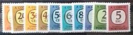 PORTUGAL Timbres De FRANCHISE Cote 1,60 € N° 69 à 78. Neufs ** (MNH). Série Complète De 10 Valeurs Surchargées. TB - Ungebraucht