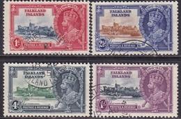 FALKLAND ISLANDS 1935 SG #139-42 Compl.set Used CV £12.50 Silver Jubilee - Falklandinseln