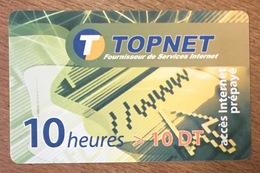 TUNISIE TOPNET 10H CARTE À CODE PRÉPAYÉE INTERNET PHONECARD CARD PAS UNE TÉLÉCARTE - Tunesien