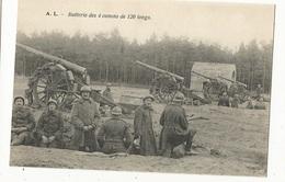 CPA, Th. Militaire ,Batterie De 4 Canons De 120 Longs , Ed. A.L. - Matériel