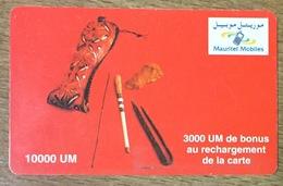 MAURITANIE MAURITEL MOBILES RECHARGE GSM PRÉPAYÉE PHONECARD CARD PAS UNE TÉLÉCARTE - Mauritanië