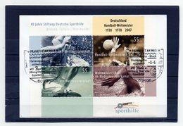 BRD, 2007, FDC (individuell) Mit Michel Block 70, 40 Jahre Stiftung Deutsche Sporthilfe - FDC: Brieven
