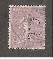 Perforé/perfin/lochung France No 197 C.L Henri Charles Lavauzelle - Perforés