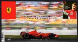 2008 Finland Victory Of H. Räikkönen In Formula 1 World Championship MS MNH** MI B 51 Ferrari, Racing Cars, Auto - Unused Stamps