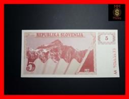 SLOVENIA 5 Tolar 1990  P. 3   UNC - Slovénie