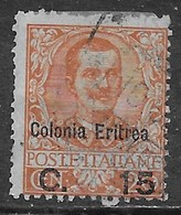 Italia Italy 1905 Colonie Eritrea Floreale Soprastampato 15 Sa N.30 US - Eritrea