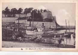CPA  Belle Ile En Mer  (56) L'avant Port Et La Citadelle   Bateau Emile Solacroup   Ed CAP 218 - Belle Ile En Mer