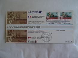 SAINT MALO QUEBEC Jacques Cartier 1534/1984 450è Anniversaire Du Premier Voyage Au Canada 3/07/84 - Explorateurs