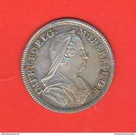 Österreich 1767 Medaglia Austria Maria Theresa Silver Medallic Issue La Religione Davanti All'altare Silber Jubileum - Oesterreich