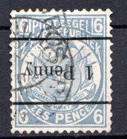 TRANSVAAL - (2ème République Indépendante) - 1887-93 - N° 94A - 1 P. S. 6 P. Bleu - (Armoiries) - Transvaal (1870-1909)